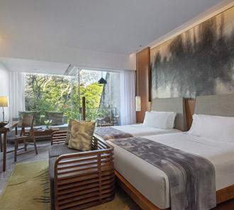 Wonderful Garden View - Twin Bed Set Up