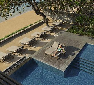 Infinity Beach Pool - Sunbathing