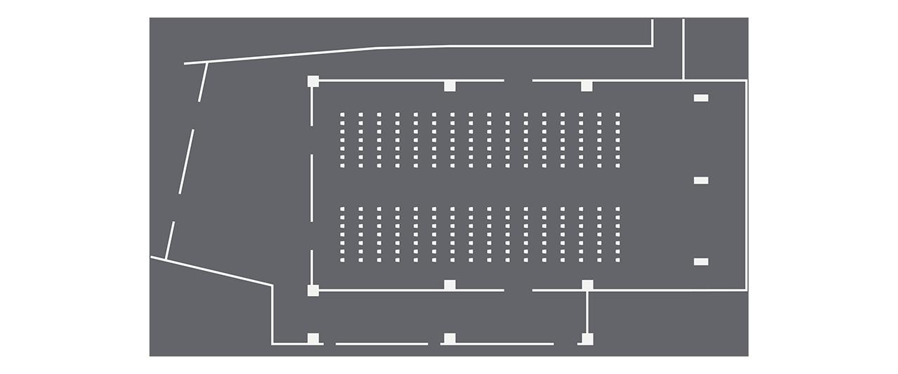 Ballroom theatre setup