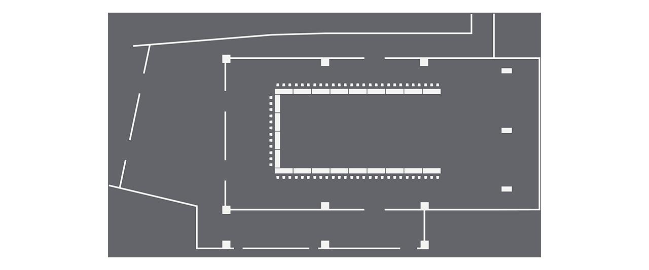 Ballroom u-shape setup