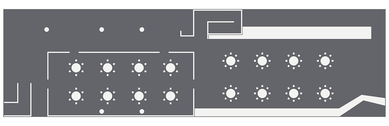 The Pavillion round table setup