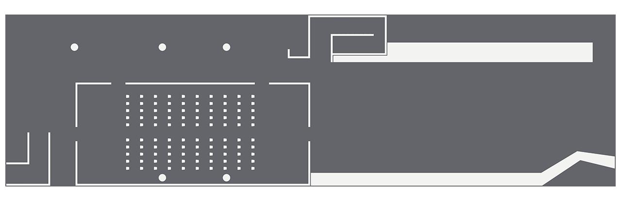The Pavillion theatre setup