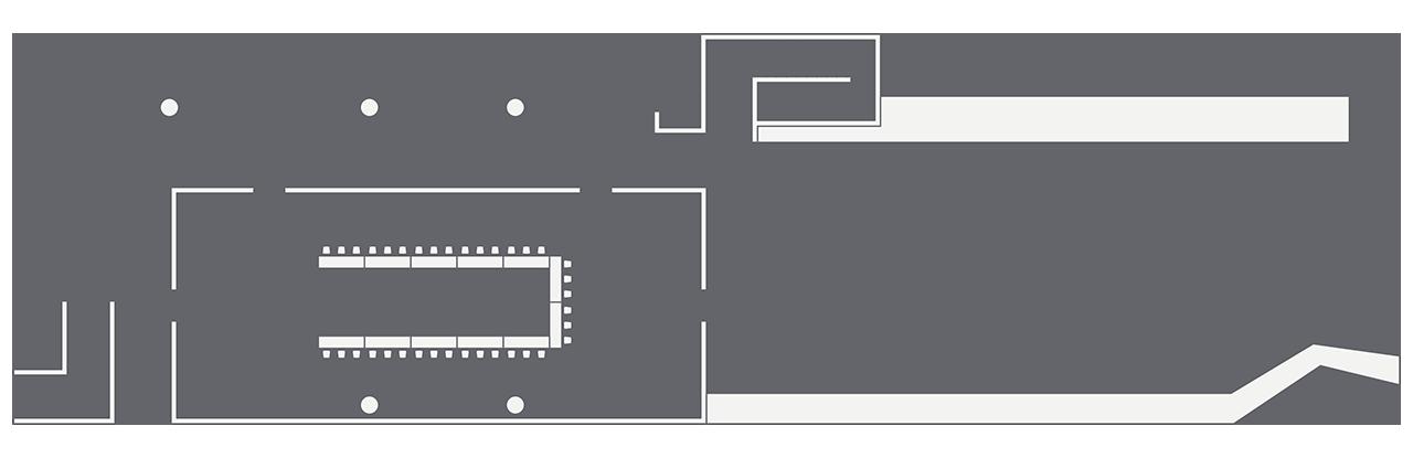 The Pavillion u-shape setup