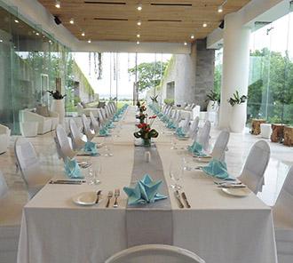 The Pavillion - Long Table Dinner Set Up