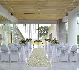 Wedding - Indoor Flower Wedding Set Up