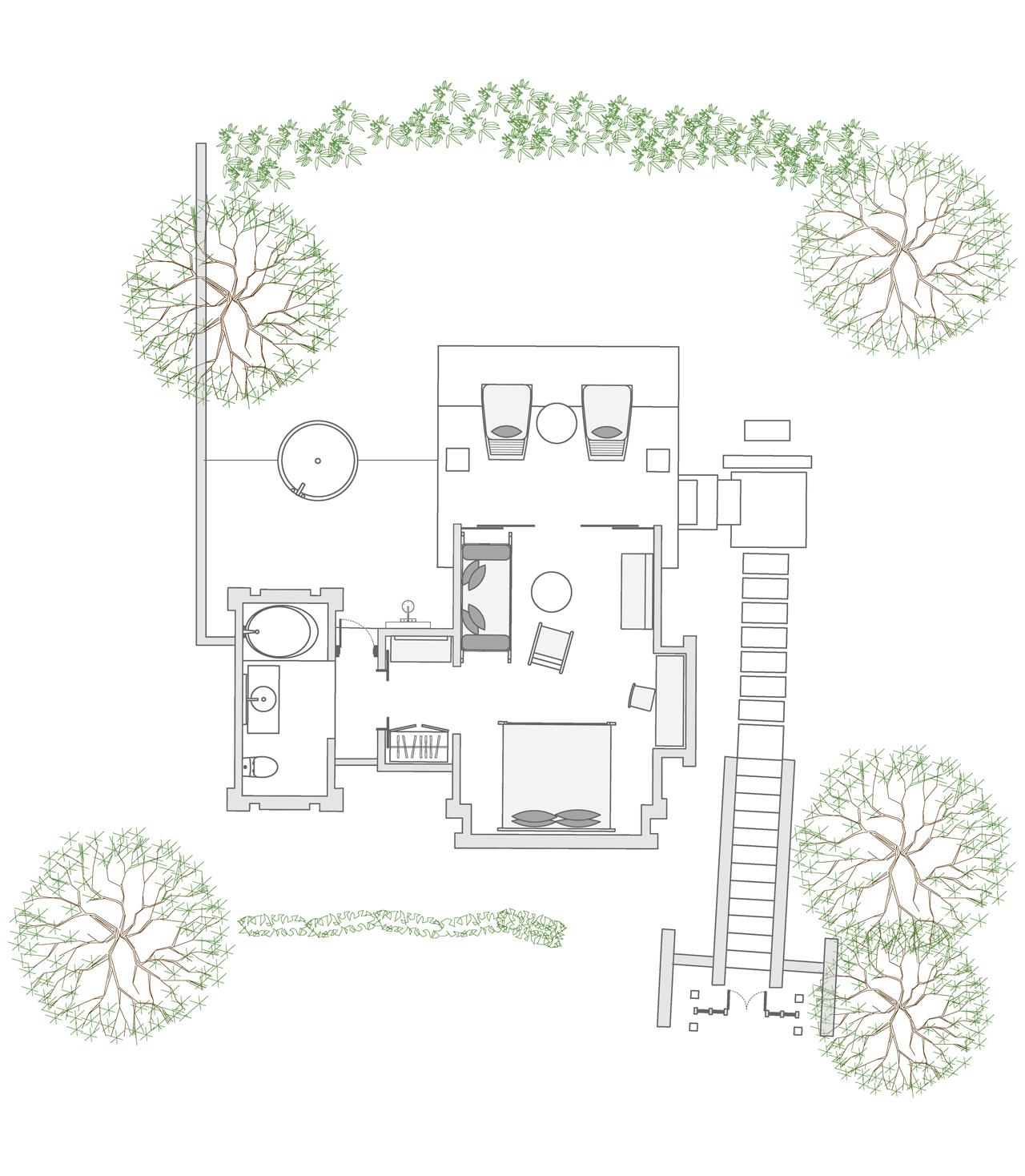 Heavenly Jacuzzi Villa floor plan