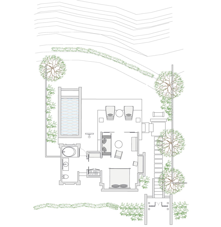 Heavenly Pool Villa floor plan