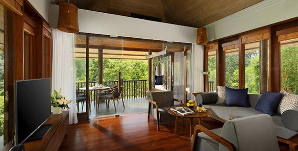 Heavenly Two Bedroom Pool Villa - Living Room on the Second Floor