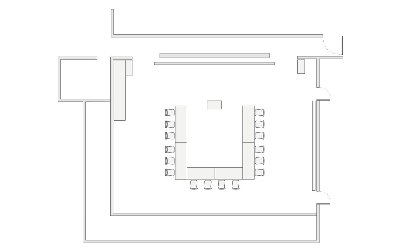 The Lounge u-shape setup